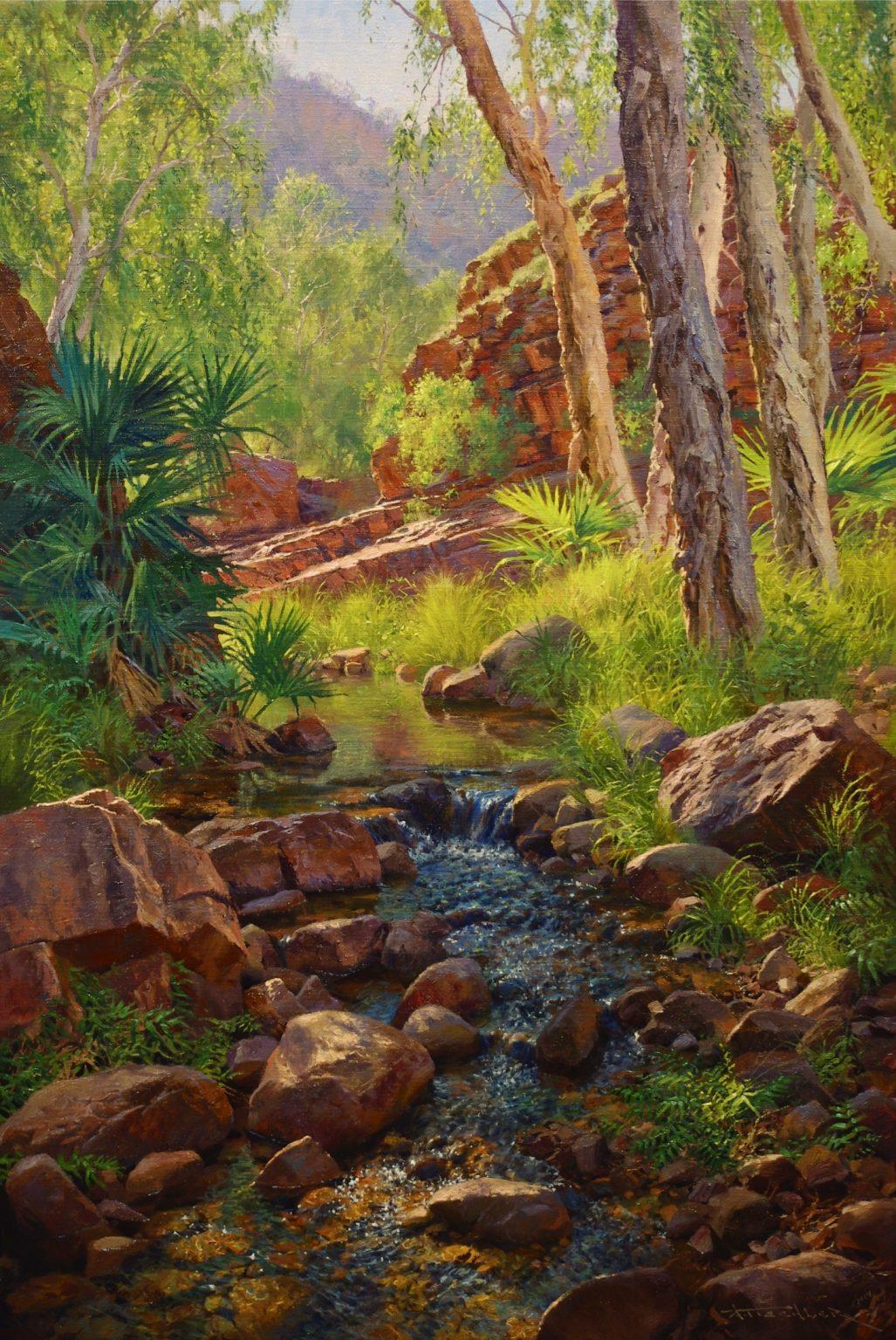 Andrew Tischler's Amelia Gorge oil painting product