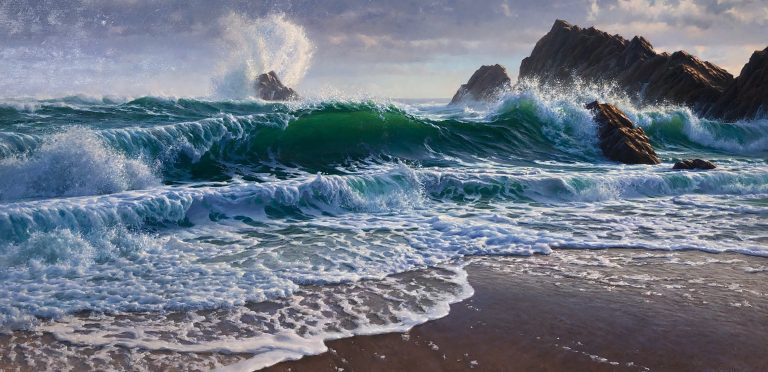 """Andrew Tischler's """"The Unbridled Sea """" oil painting product"""