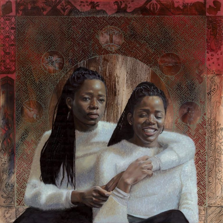 Cameron Richards' Mother, Daughter, Sisters in the Clouds oil painting product