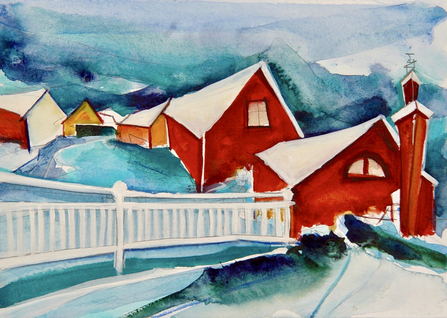 """Christin Lutze's """"After The Blizzard"""" watercolour painting product"""