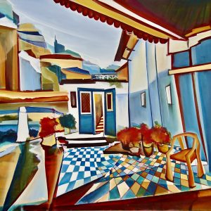 "Christin Lutze's ""Atrium"" oil painting product"