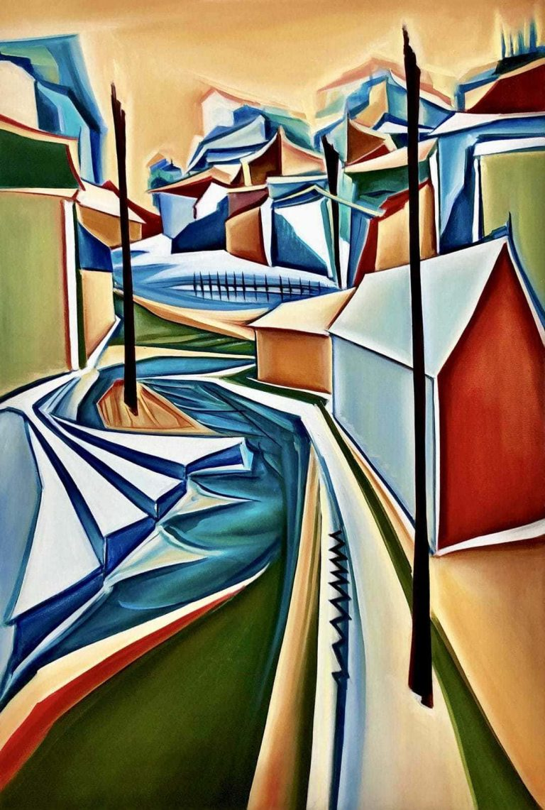 """Original Art For Sale """"Ways And Paths"""" painting product"""