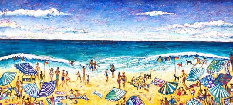 """Christine Hingston's """"Endless Summer"""" original painting product. Exclusive Oil & Acrylic on Canvas"""