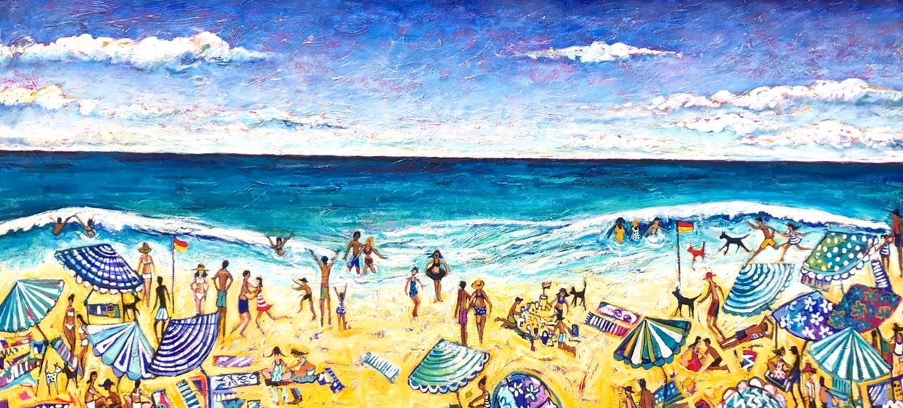 "Christine Hingston's ""Endless Summer"" original painting product. Exclusive Oil & Acrylic on Canvas"
