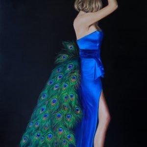 "Corinne Lewis's ""Resplendent Ornament"" original painting product"