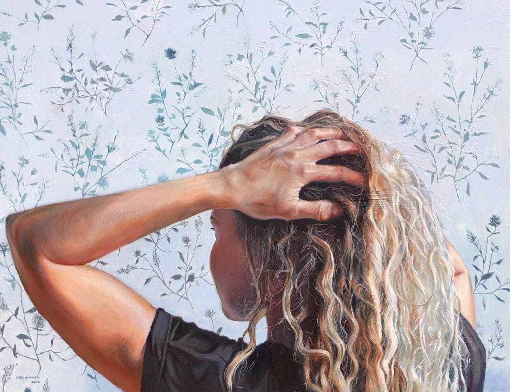 Cameron Richards' Curly Girl oil painting product