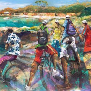 Donald Waters Chin Wag Art Print
