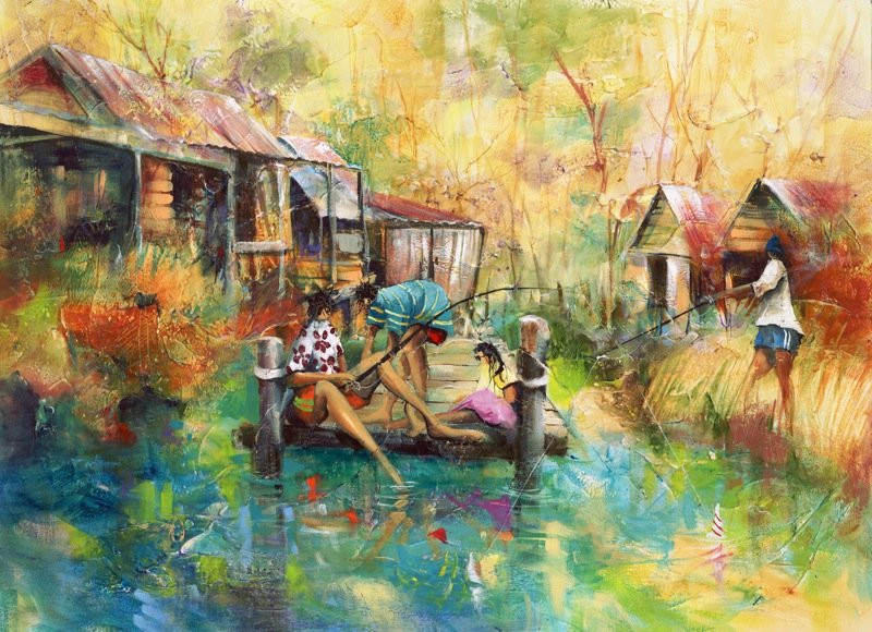 Donald Waters Past Time Art Print