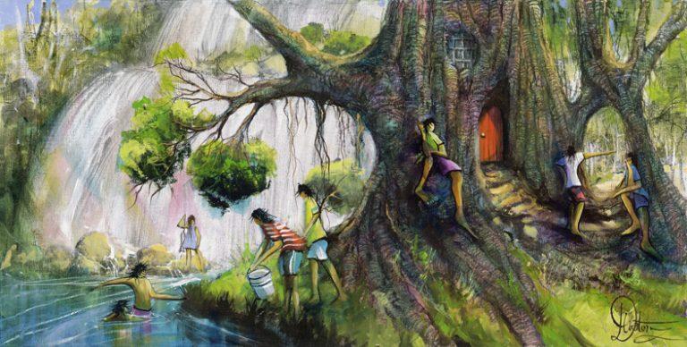Donald Waters Tea Time Art Print