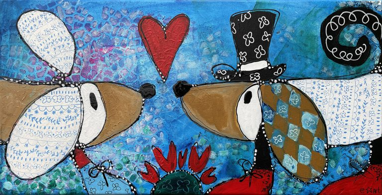 """Esther Ziher-Ginczinger's """"Hey! You got My Porcelain Ears"""" original painting product"""