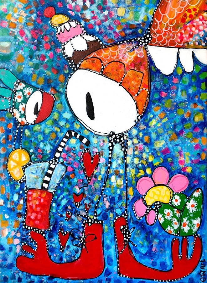 """Esther Ziher-Ginczinger's """"Juicy Lucy"""" original painting product"""