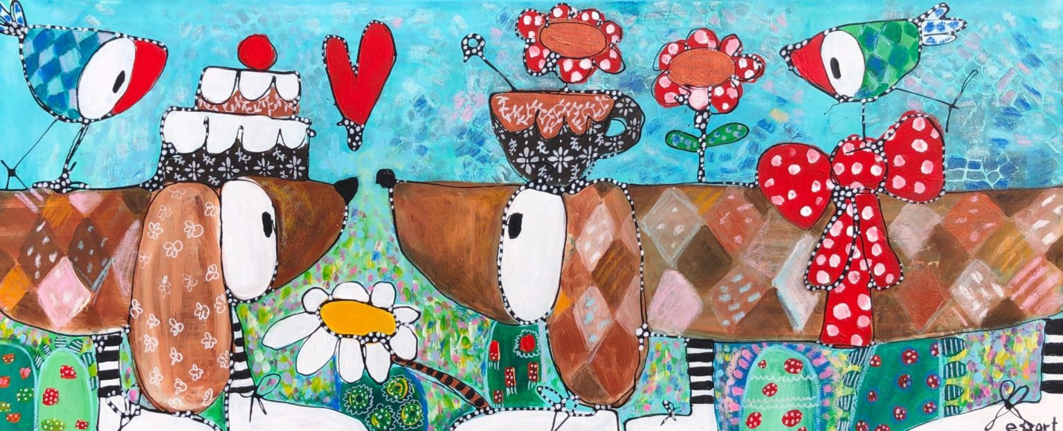 "Esther Ziher-Ginczinger's ""Let's stick together"" original painting product"