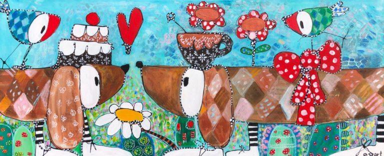 "Esther Ziher-Ginczinger's ""Let's stick together"" original painting product"