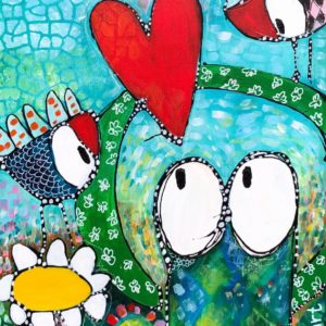 "Esther Ziher-Ginczinger's ""Loooooooove"" original painting product"