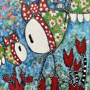 "Esther Ziher-Ginczinger's ""Twinning = Winning"" original painting product"