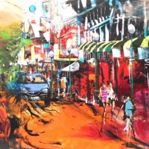 """Donald James Waters' """"Freo on Fire"""" oil painting product"""
