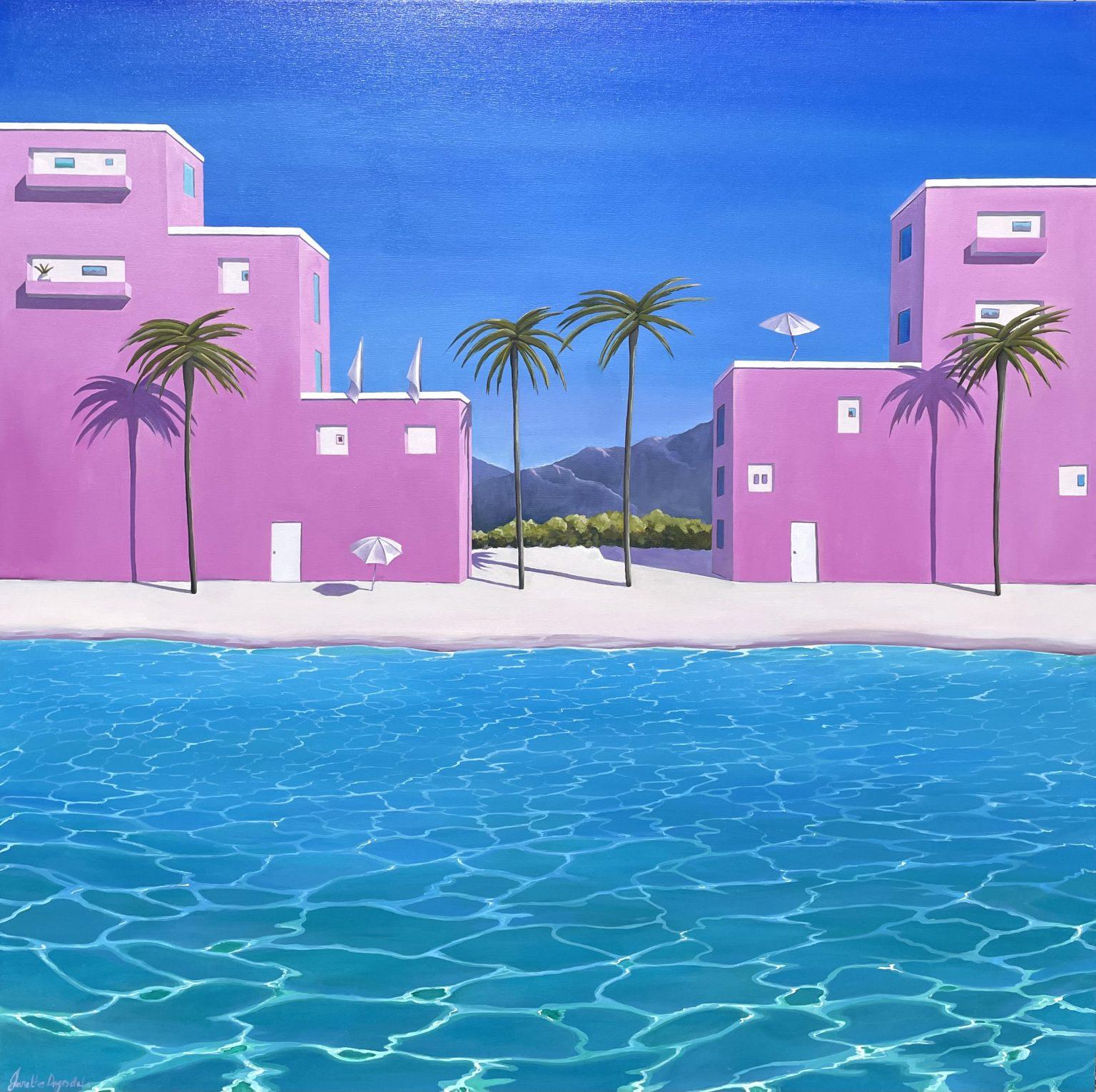 """Janette Drysdale's """"Rendez-vous sur la plage"""" oil painting product"""