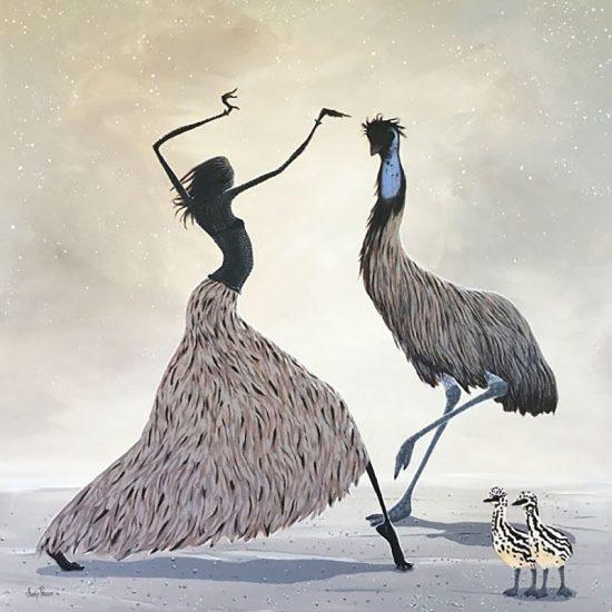 Judy Prosser Emu Dancer Print