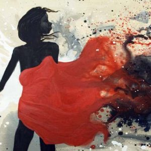 Judy Prosser's Girl with Red Drape Giclee Print