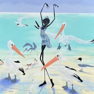 Judy Prosser's Pelican Dancer acrylic painting