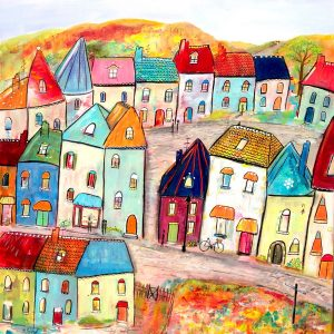 """Kathryn Stanley-Hart's """"Pendleton Way"""" mixed media painting product"""