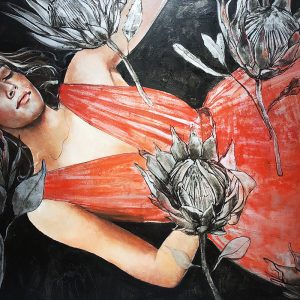 Liz Gray's Botanical Dreaming oil painting original art for sale product