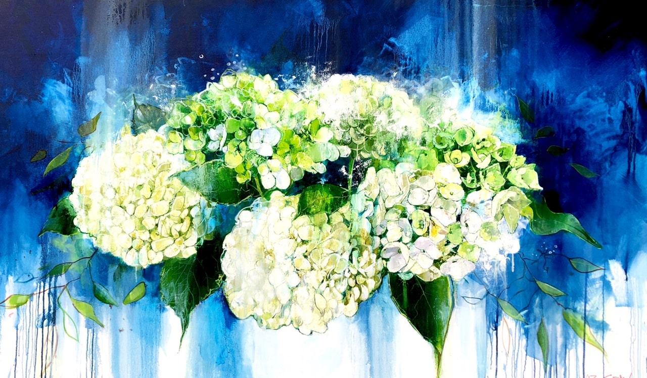 Liz Gray's Fluorescence oil painting original art for sale product
