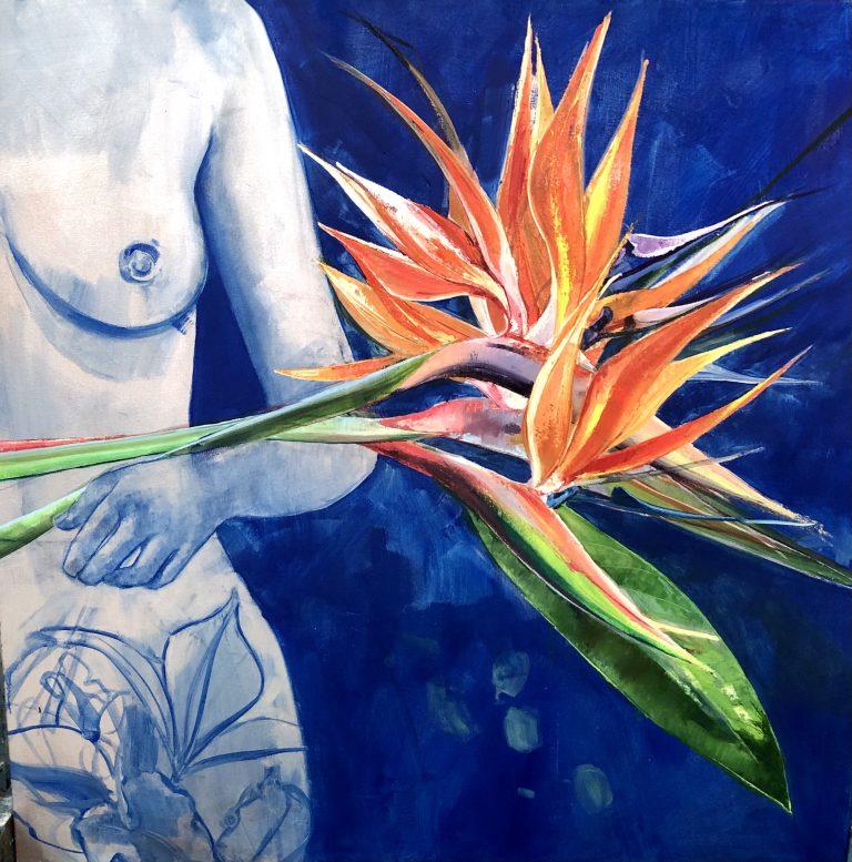 Liz Gray's Gaugins Girl oil painting