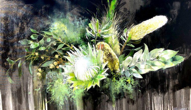 Liz Gray's Untamed oil painting original art for sale product