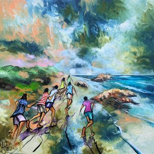 """Donald James Waters' """"Moon Chasers"""" oil painting product"""