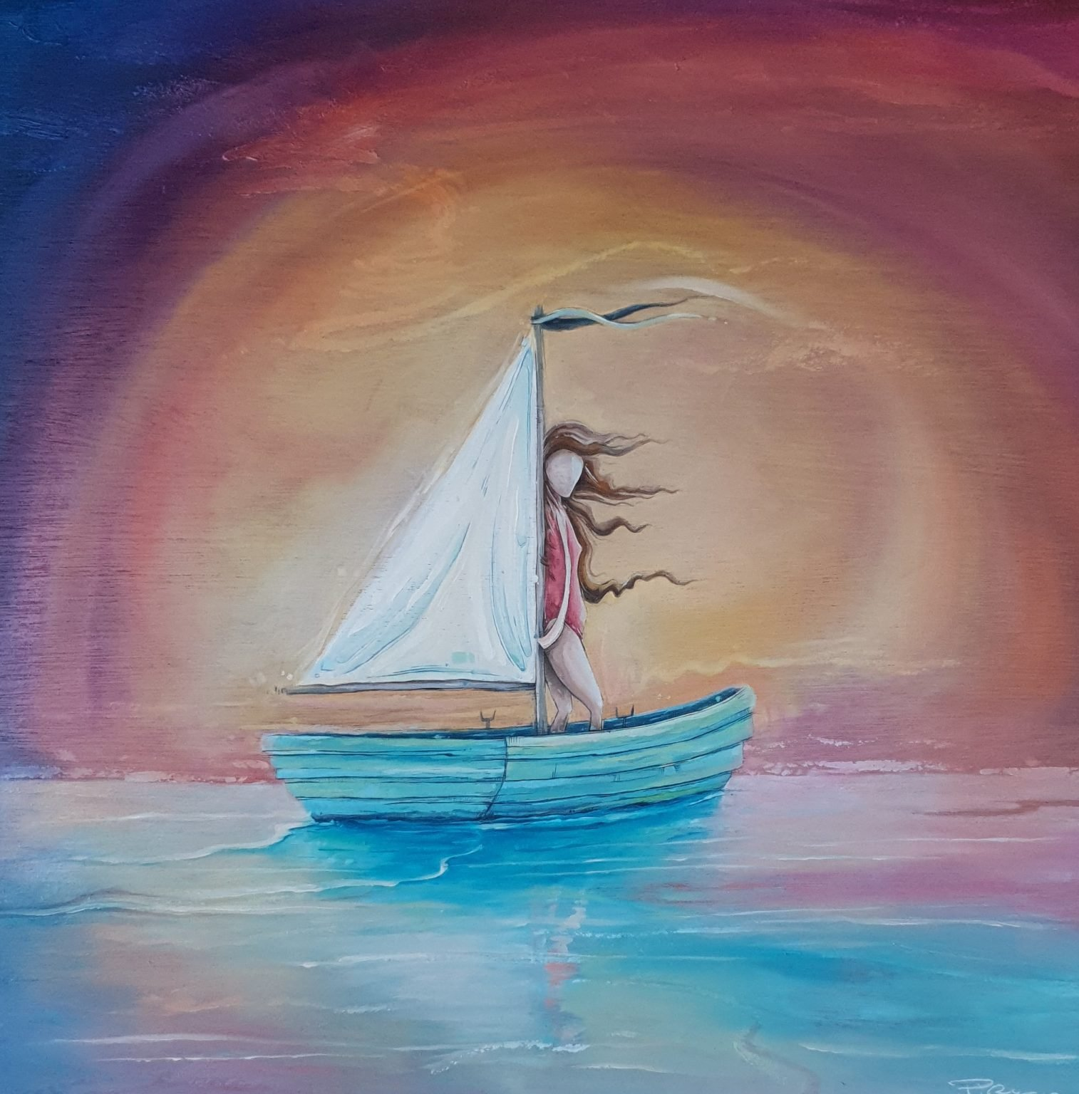 """Peter Ryan's """"Deep Breeze"""" oil painting product"""
