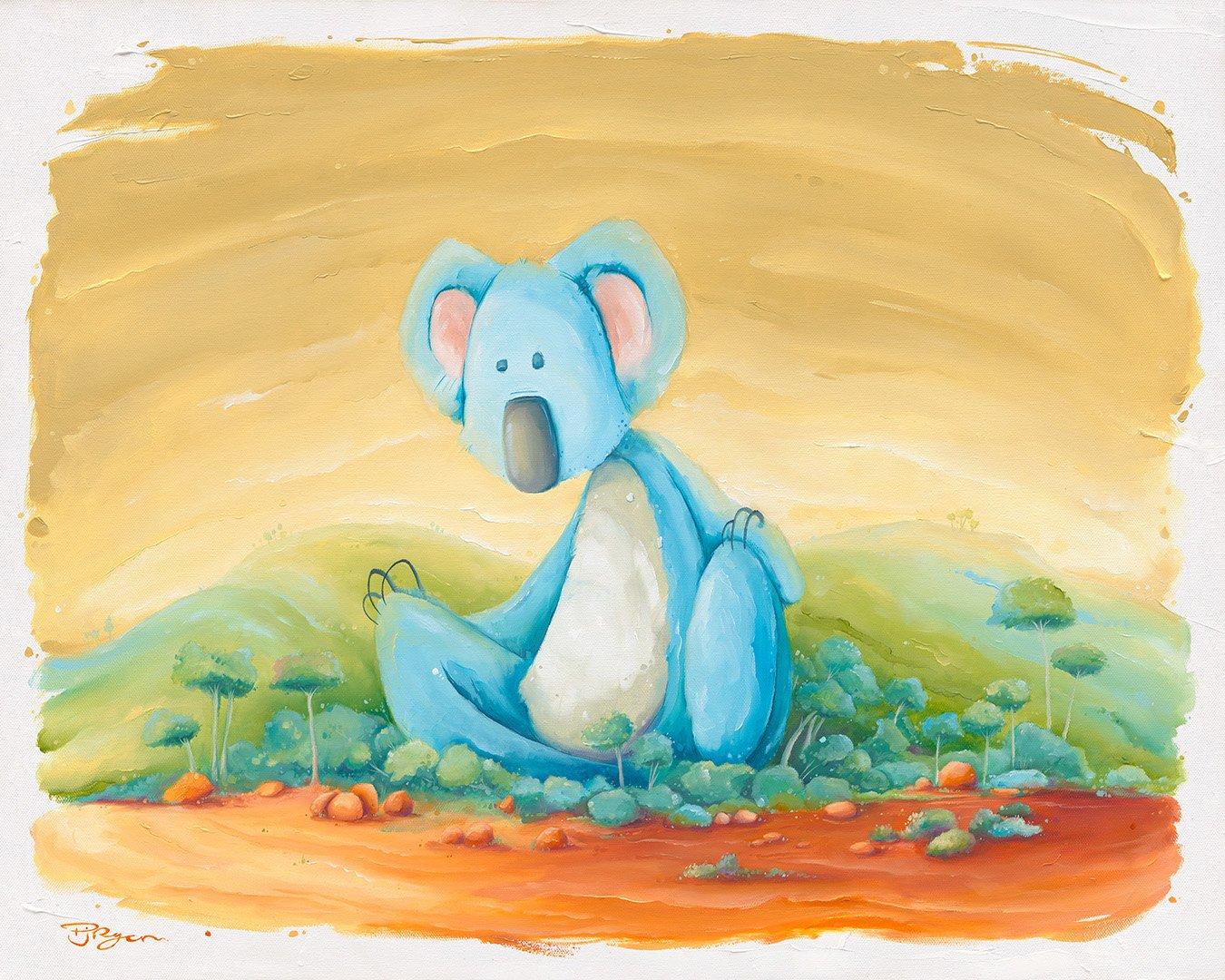 "Peter Ryan's ""Drop Bears Beware"" oil painting product"