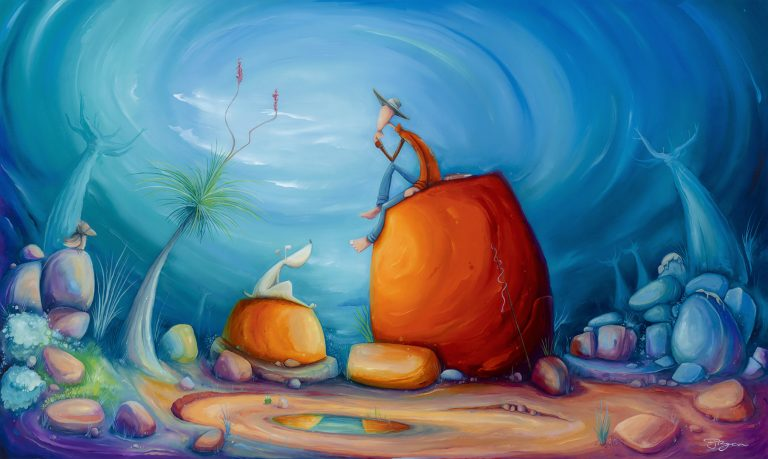 "Peter Ryan's ""Wanderlust "" oil painting product"