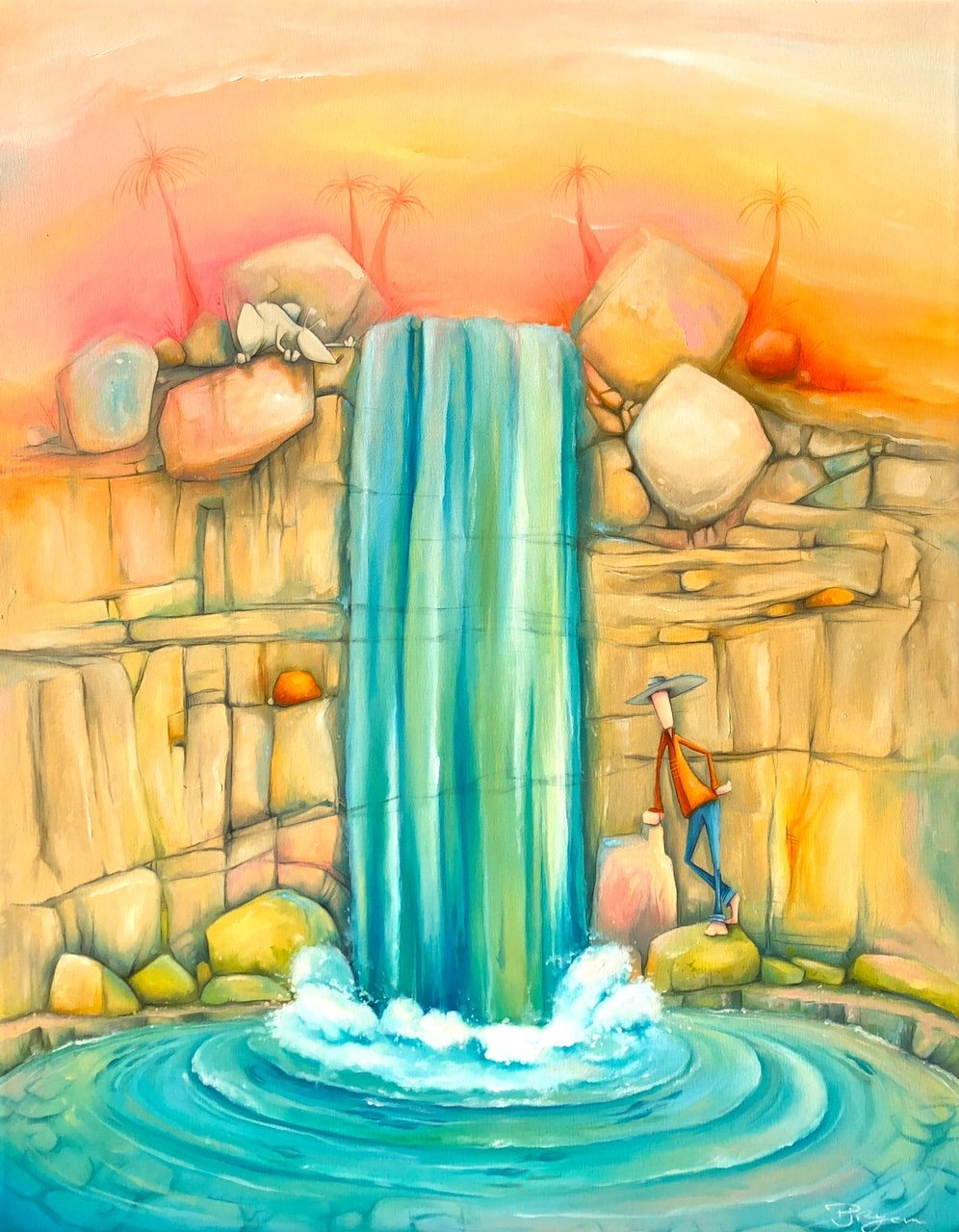 """Peter Ryan's """"With The Flow"""" oil painting product"""