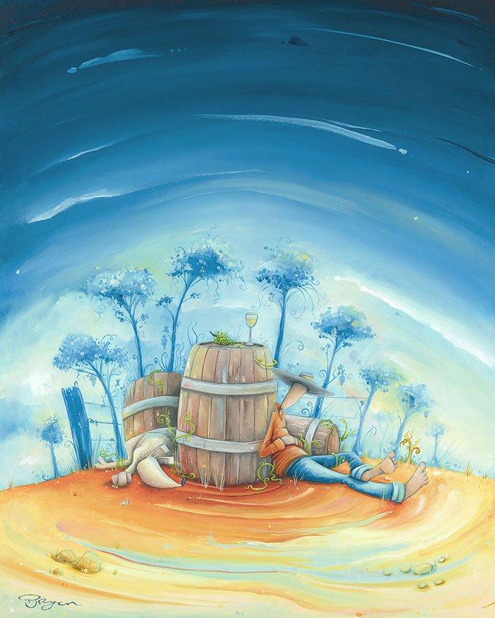 """Peter Ryan's """"Deep Breeze"""" original painting product"""