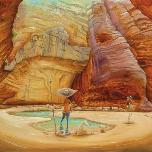 """Peter Ryan's """"Crab in Catherdral Gorge"""" Limited Edition Print"""
