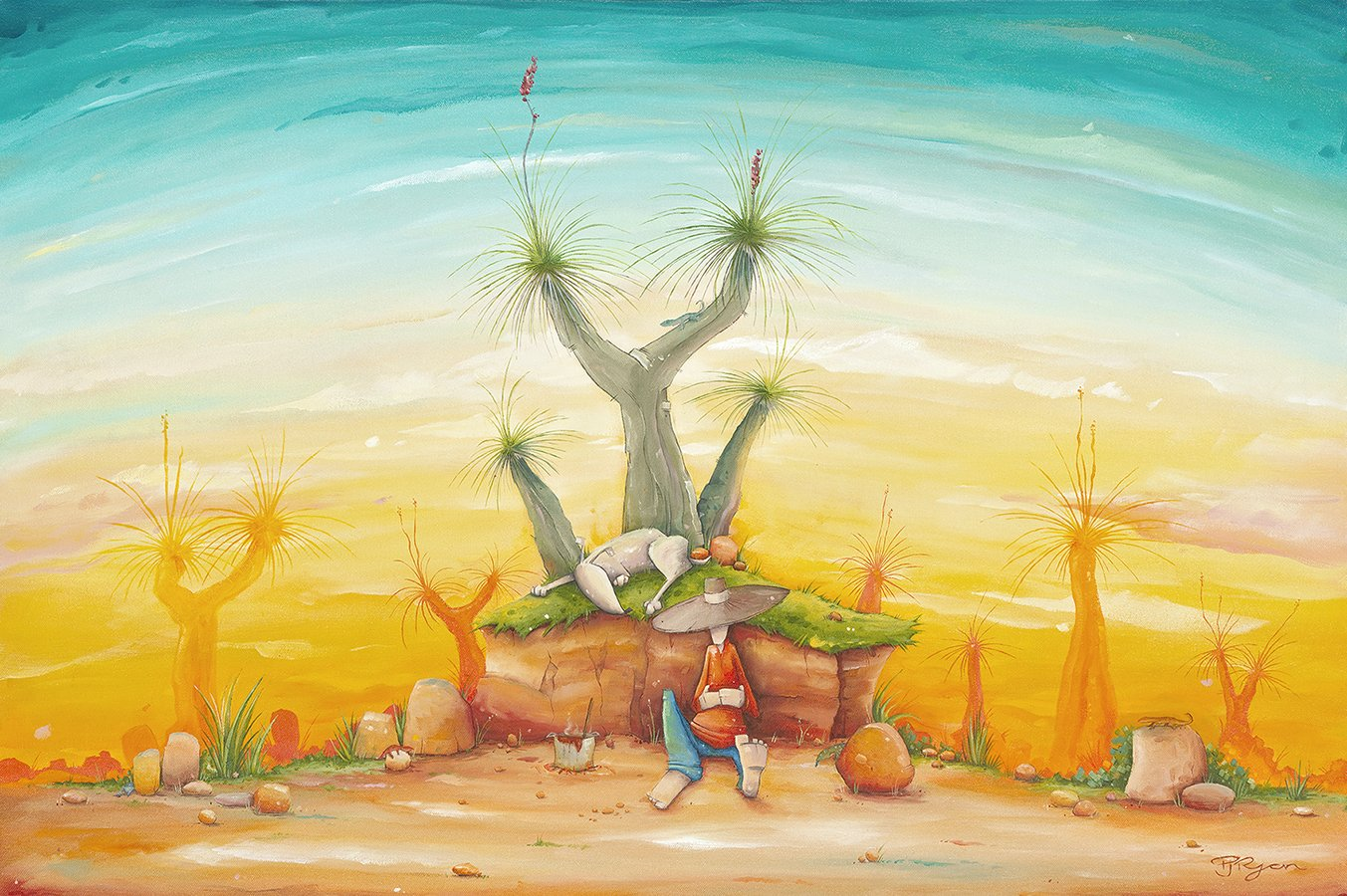 """Peter Ryan's """"Lucky Lizards"""" Limited Edition Print"""