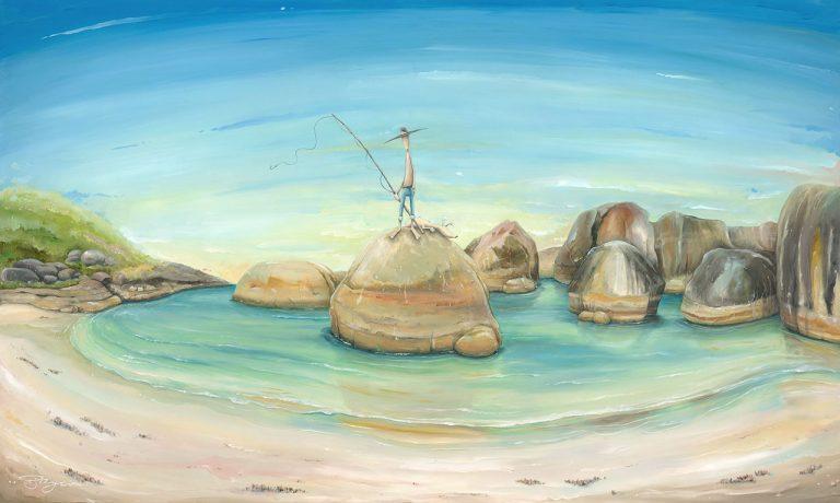 "Peter Ryan's ""Man on Elephant Rocks"" Limited Edition Print"