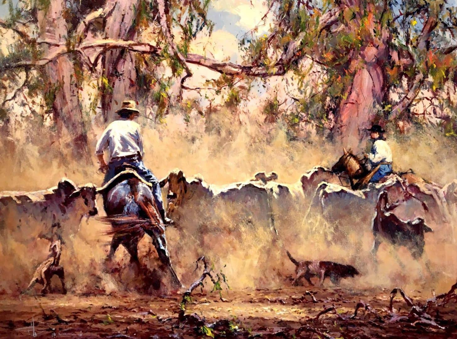 Robert Hagan's Drovers oil painting product