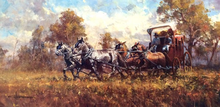 Robert Hagan's Overland oil painting product
