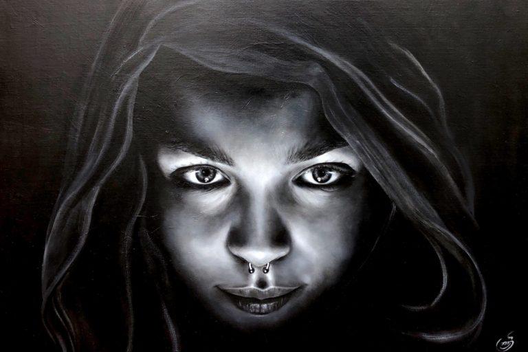 """Sanaz Valizadeh's """"Follow Me"""" original painting product"""