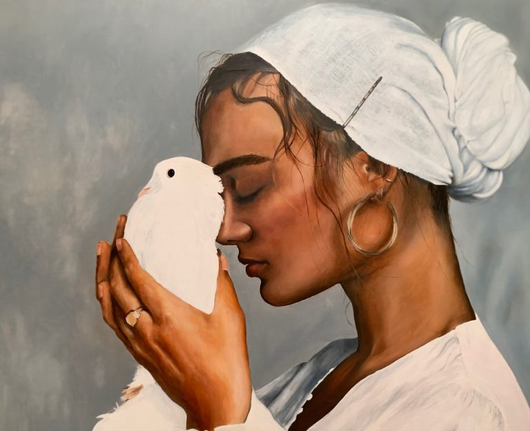 "Sanaz Valizadeh's ""Freedom"" original painting product"