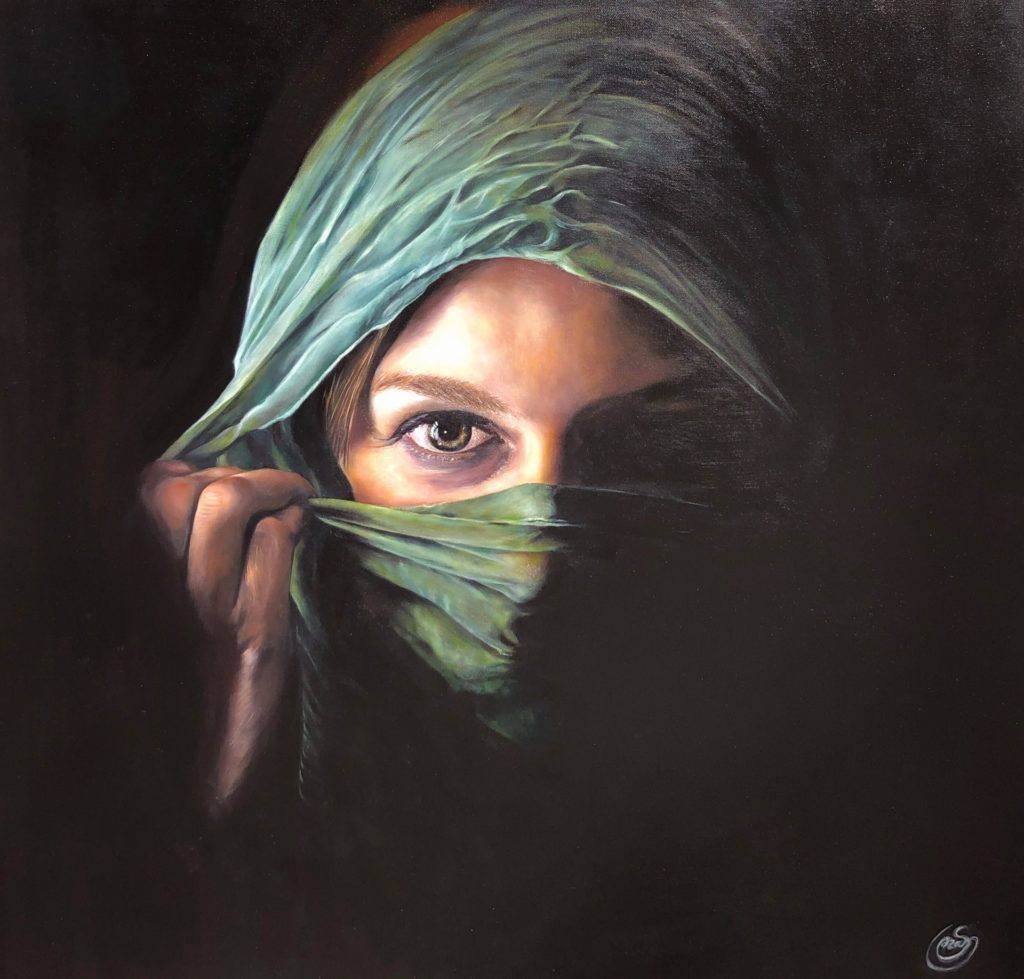 "Sanaz Valizadeh's ""Maria"" original painting product"