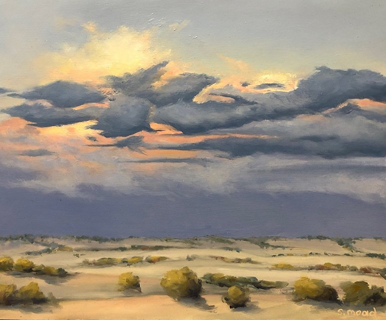 Shane Moad's New Years Eve Storm Beverley oil painting