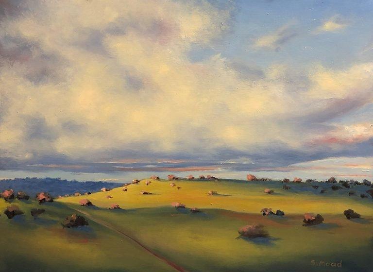 Shane Moad's Winter Light Berverley oil painting