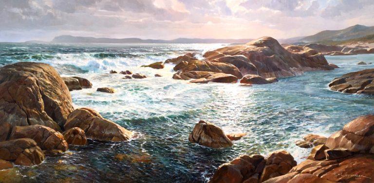 "Andrew Tischler's ""South Coast Denmark"" oil painting product"