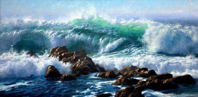 "Andrew Tischler's ""Sunlit Ocean"" oil painting product"