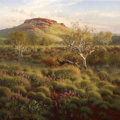 """Andrew Tischler's """"The Pilbara At Dawn"""" oil painting product"""