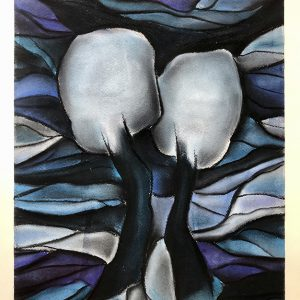 Christin Lutze's The Kiss II pastell on paper