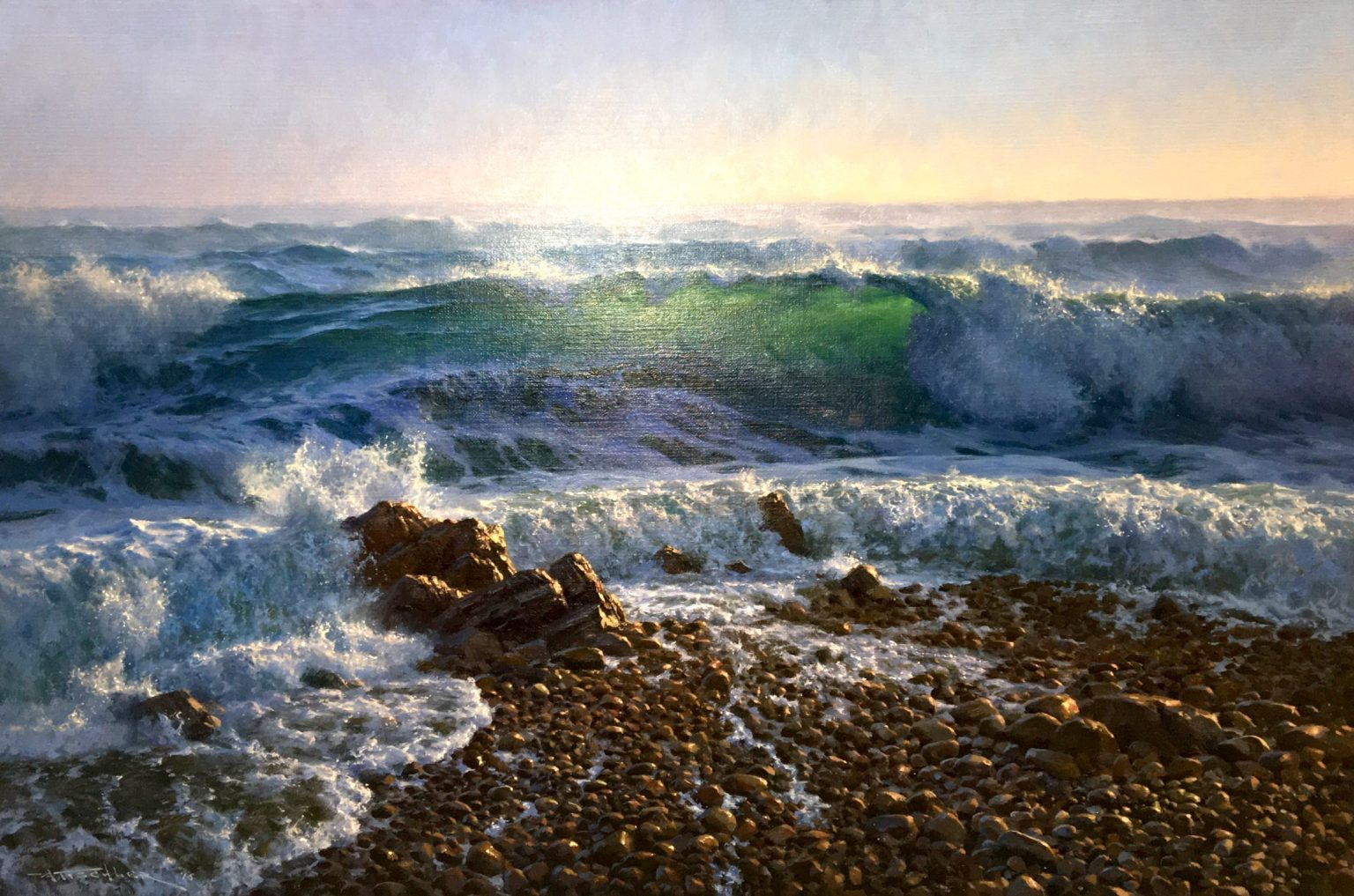 "Andrew Tischler's ""W.A. Coastline"" oil painting product"